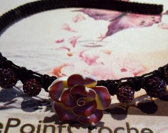 Plum flower headband