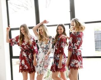 Set of 6 Bridesmaid Robes // Robe // Bridal Robe // Bride Robe // Bridal Party Robes // Bridesmaid Gifts // Satin Robe // Gemstone