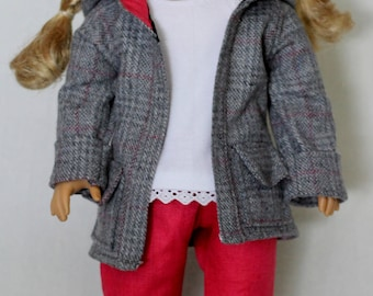 Coat, Top & Pants set, to fit like American Girl Doll clothes, doll clothes