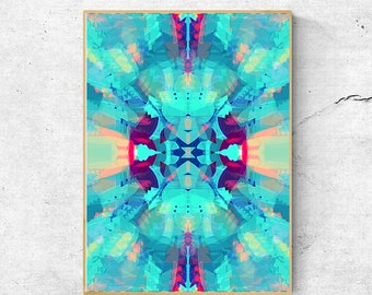 Bohemian Decor, Abstract Art Print, Abstract Wall Art Prints, Printable wall Art, Blue Wall Art, Blue Abstract Art, Bohemian Print, Blue Art