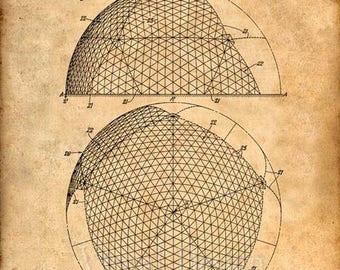 Geodesic Dome Patent Poster - Patent Art Print