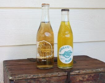 Vintage Cordial/ Soft Drink Bottles with Contents~Stanwells Cordial Dubbo(SOLD)~Sergeant Major Mason & Mason Oakey~Price for 1