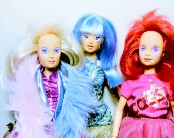 3 Vintage 80s  Jem  Doll Lot