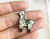 Too cute to die - Alpaca pin, hard enamel pin, alpaca gifts, llama pin, lapel pin, animal pin, enamel pin, girls pins, pingame, pins