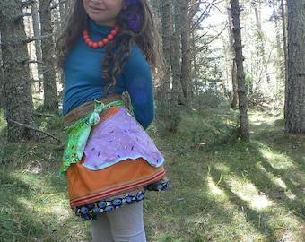 Winter skirt in corduroy