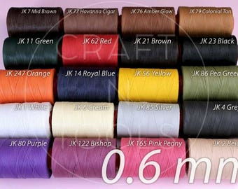 RITZA 25 Tiger Waxed Thread 0.6mm in 20 Colours/Polyester Thread/Waxed Thread/Handsewing Leather/Leather Supplies