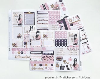 ON SALE Planner Stickers / Personal Planner / TN Planner / Weekly : #GirlBoss