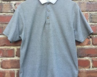ON SALE Vintage Green Polo Men's Arizona Jean Company White Collar Detail with ribbed look and feel material