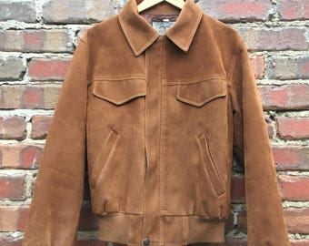 Vintage Suede Look Jacket Made in Italy Size Medium