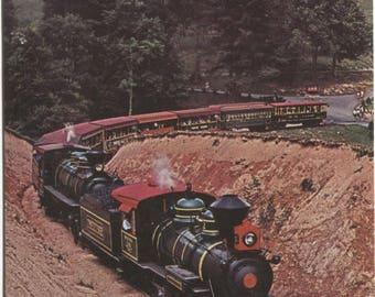 Tweetsie First Pass Leaving Station Blue Ridge Parkway Blowing Rock North Carolina Train Vintage Postcard 1603