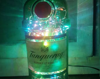 Tanqueray Gin 1L Mains Powered, Copper Wire 100 LED Bottle Light, Great Birthday Gift!