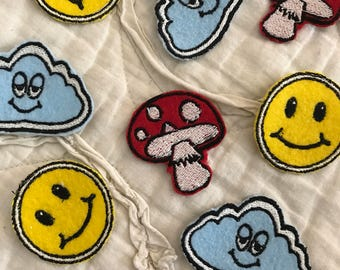 Trippy Hippy Iron On Patches