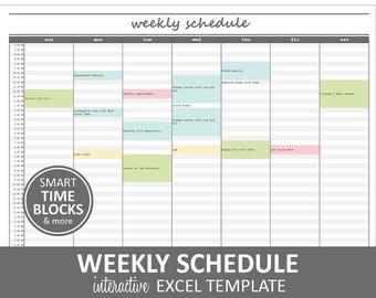 Elegant Weekly Schedule - Gray | Weekly Planner Printable | Excel Planner Template | Weekly Schedule | Instant Digital Download