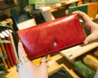 Leaf Foldover Wallet