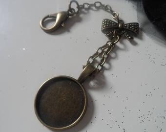 KEY - Juju - 20mm cabochon-pendentif-attache-fermoir-mousqueton-babashop holder
