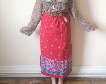 Vintage Boho Maxi Skirt size S/M