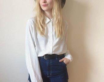 Vintage Polka Dot Shirt size L