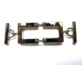 RECTANGULAR IN-BETWEEN ORGANIZED A REMOVABLE GOLD 20/70 MM BARRETTE