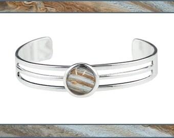 Silver Jupiter Bangle with photo card
