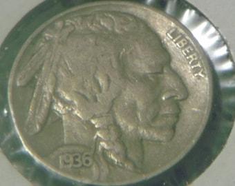 1936 P Buffalo Nickel (TF78)