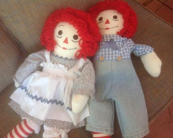 Raggedy Ann and Andy Doll 26 inches Tall