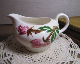 Hand Painted Creamer - Pink Rose Design