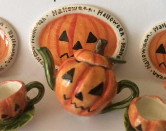 Pumpkin Teaset (dollshouse)