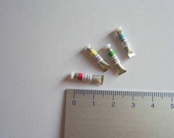 gouache miniature, blue, individually tube