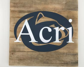 Penn State Personalized Sign // Penn // Nittany Lions // College // Graduation // Gifts for Her // Gifts for Him / Wedding / Custom