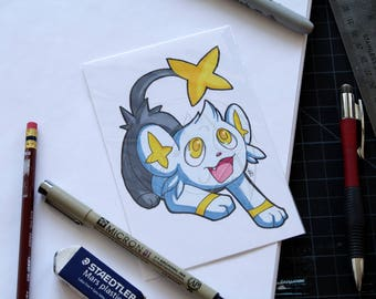 Pokemon Shinx 4x6 marker drawing