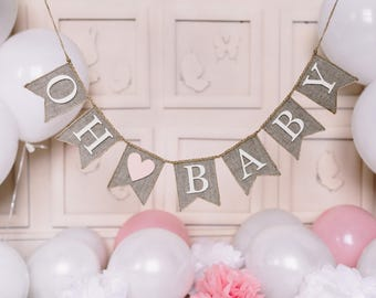 Wonderful Oh Baby Banner, Oh Baby Baby Shower, Baby Banner, Baby Burlap Banner,