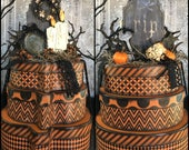 Halloween Pumpkin Hat Box Decor