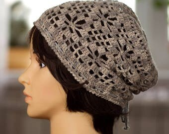 Women's Hat / Summer Hat / Crochet Hat / Hat For Women / Women's Beanie / Slouchy Beanie / Crochet Beanie / Handmade Beanie / Tam Hat