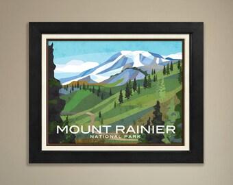Mount Rainier National Parks Print