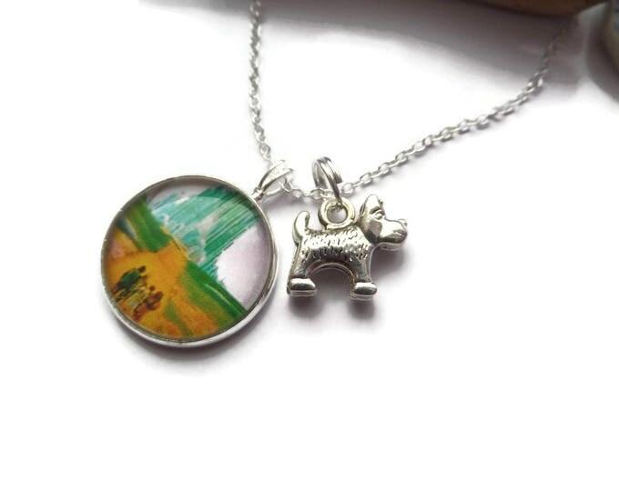 Wizard Oz gift, yellow brick road, dorothy necklace, oz necklace, emerald city, oz jewellery, yellow brick gift, xmas gift, sandykissesuk