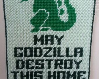 Godzilla wall art hanging