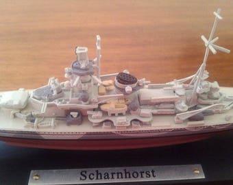 """Model of the ship """"Scharnhorst""""."""