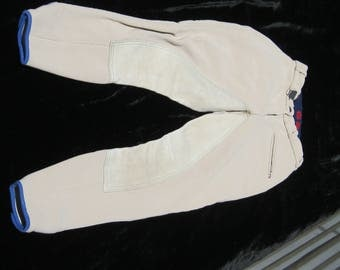 Riding Breeches, Georg Shumacher Full Leather Seat , SZ 24 waist
