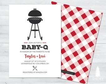 Gender Neutral BabyQ Invitation, Printable Baby Shower BBQ Invitation, BabyQ Invitation, Babyque invitation, BabyQ, BBQ Shower, Baby-Q DIY