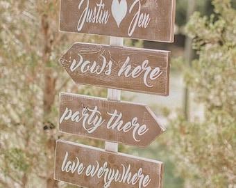 SUMMER SALE Wedding arrow signs - Wedding directional signs - directional wedding signs - rustic wedding signs - wedding signage - ceremony
