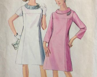 Simplicity 7355 misses A-line dress in half size 20 1/2 bust 41 vintage 1960's sewing pattern