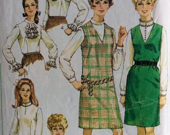 Simplicity 7765 misses jumper and blouse size 18 bust 40 vintage 1960's sewing pattern