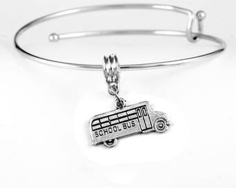 School Bus Charm Bracelet School bus bracelet School bus driver bracelet Bus bracelet School bus jewelry School Jewelry bus jewelry