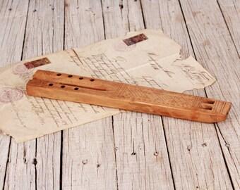 Wooden flute - Vintage wood flute holes - Wwooden whistle - Antique musical instrument  - Wooden musical instrument - Folk flute handmade