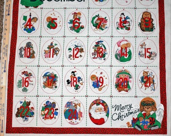 Christmas Countdown Quilt, Quilt Panel, Christmas Quilts, Step by Step Quilt Panels, Christmas Quilting, Quilting Panels, Christmas Calendar