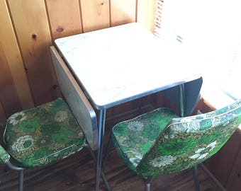 Formica Mid Century Modern Chairs And Table