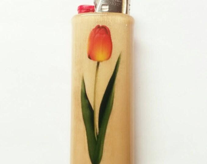 Tulip Tulips BIC Lighter Case Holder Sleeve Cover