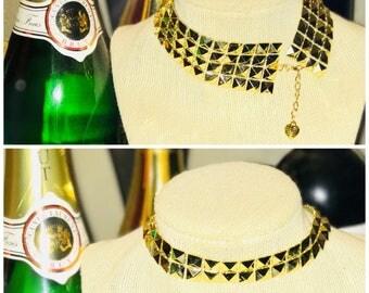 Gold Coachella Themed Choker Necklace Set