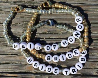 Bachelorette Beaded Bracelets - Set of 3