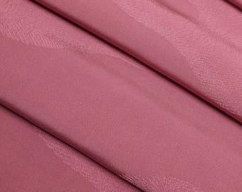 Mauve-pink silk Kimono Fabric with woven cloud pattern - by the yard